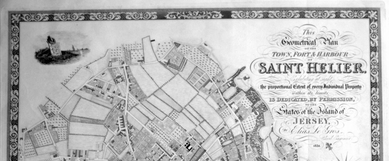 Map of St Helier 1834